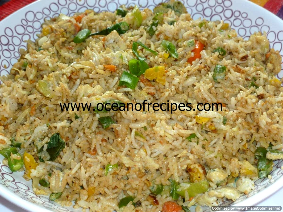 Egg fried rice indian street food style ccuart Choice Image