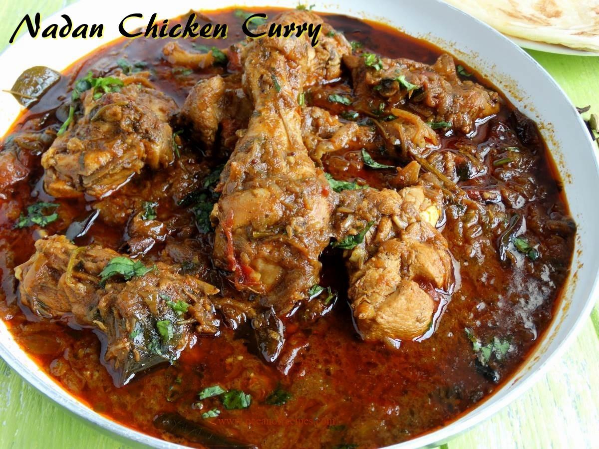 Nadan Kozhi Curry Kerala Style Chicken Curry