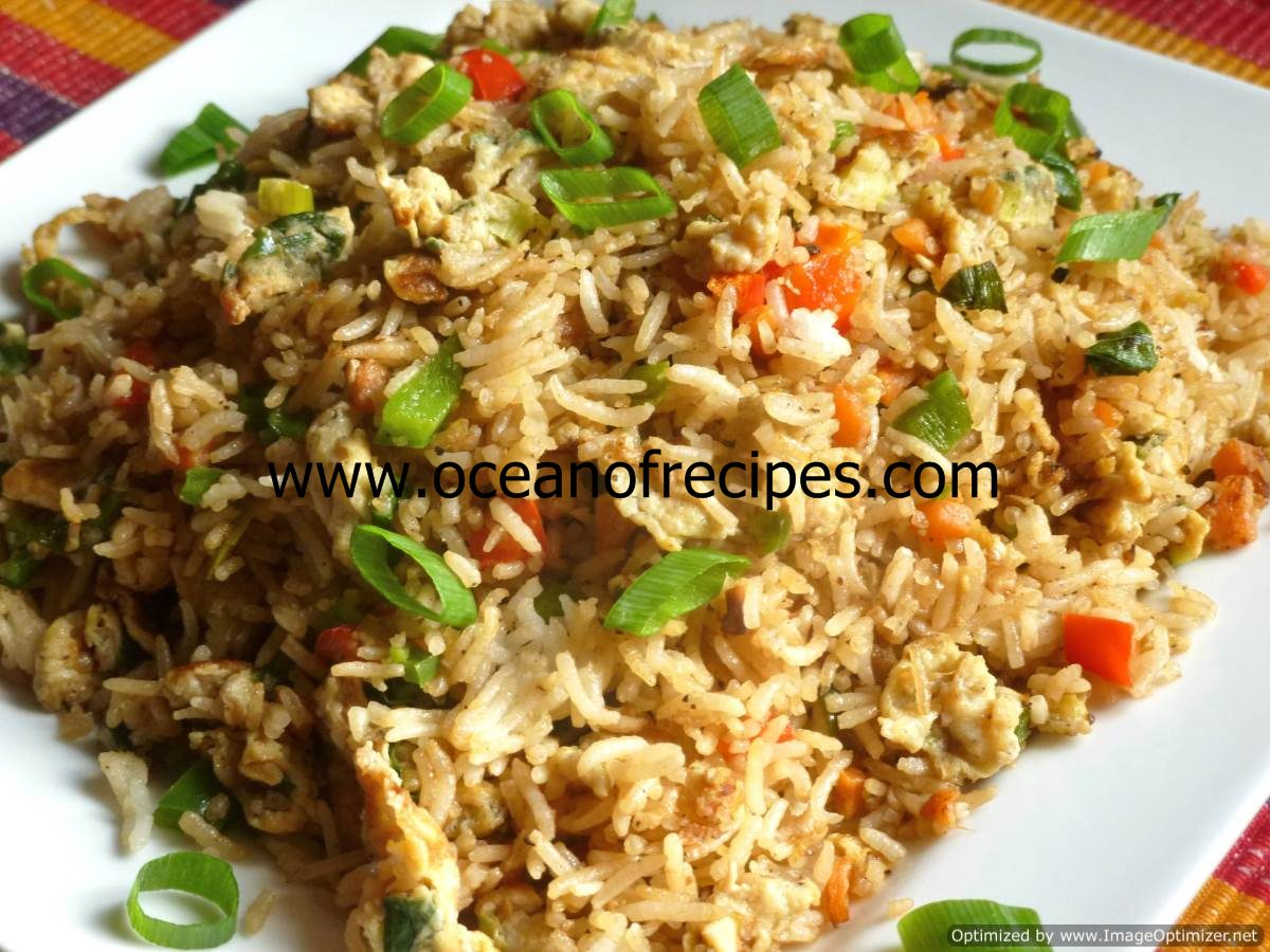 Ocean of recipes egg and vegetable fried rice with oyster sauce ccuart Image collections