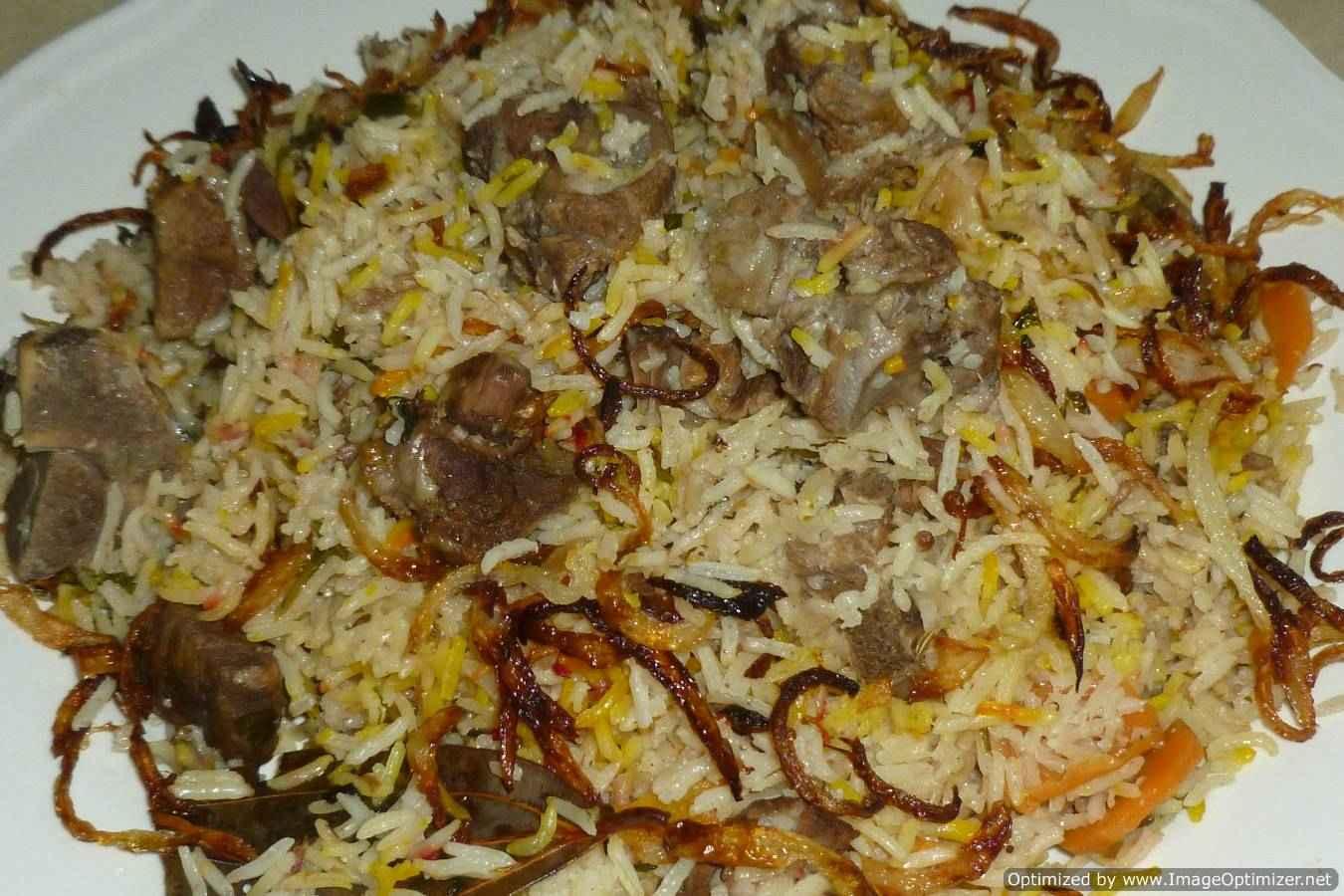 Shahi yakhni pulao