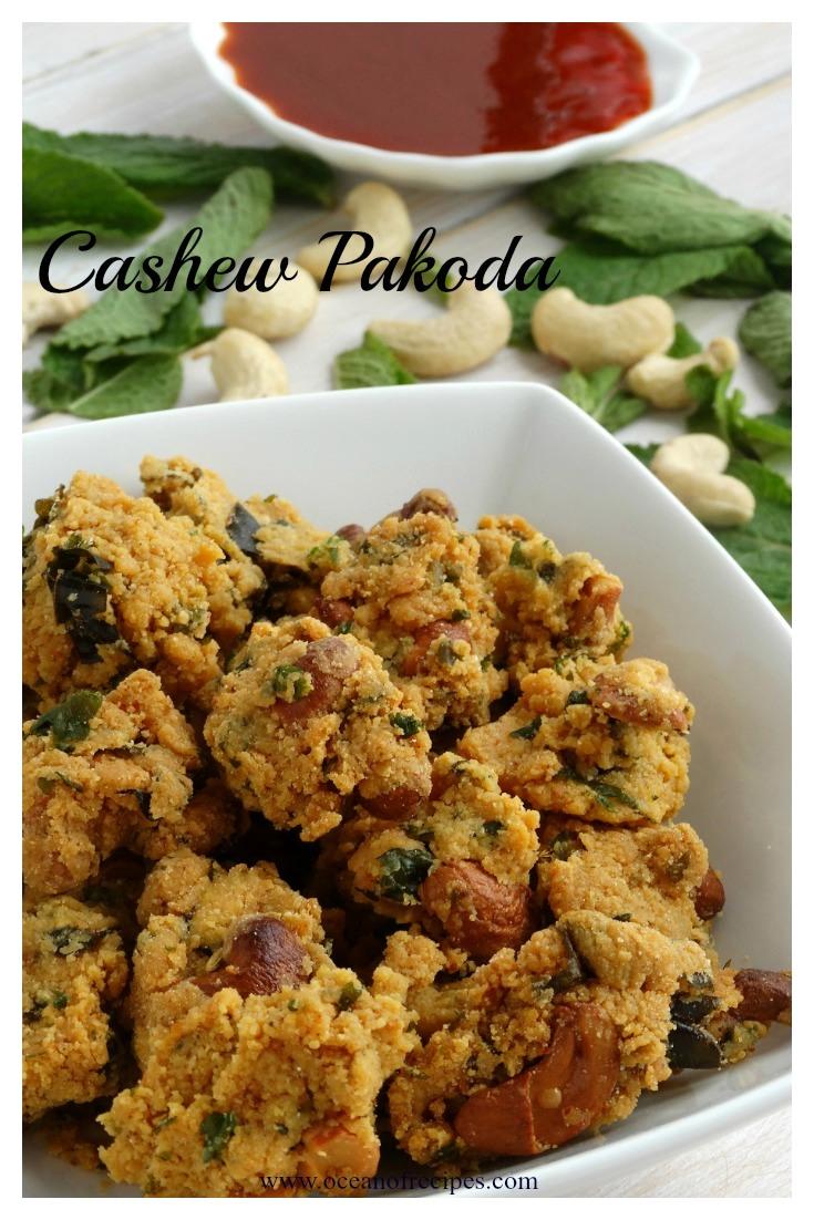 Cashew Pakoda Munthiri Pakoda